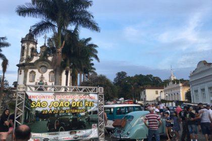 Encontro de carros antigos em São João Del Rei